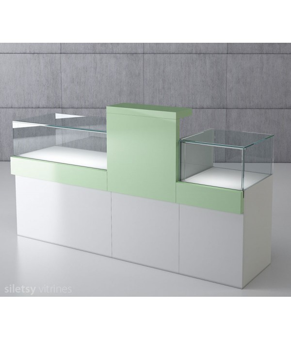 Vitrine-toonbank opstelling 200x53x120cm