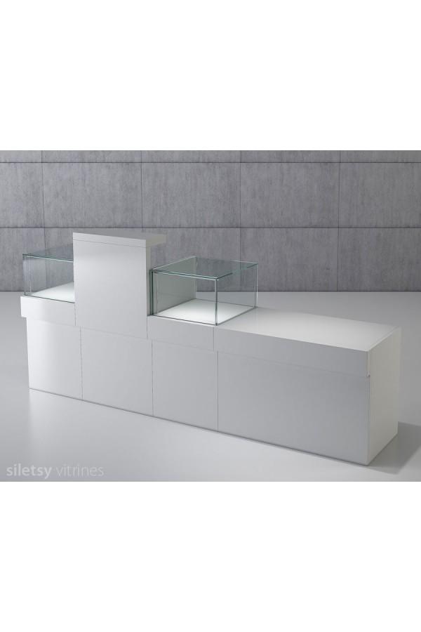 Vitrine-toonbank opstelling 250x53x120cm