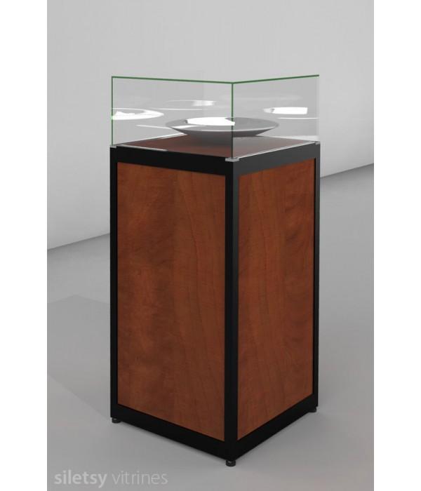 Stolp-vitrine 50x50x125cm