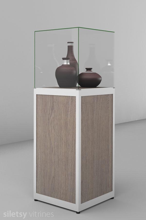 Stolp-vitrine 50x50x150cm