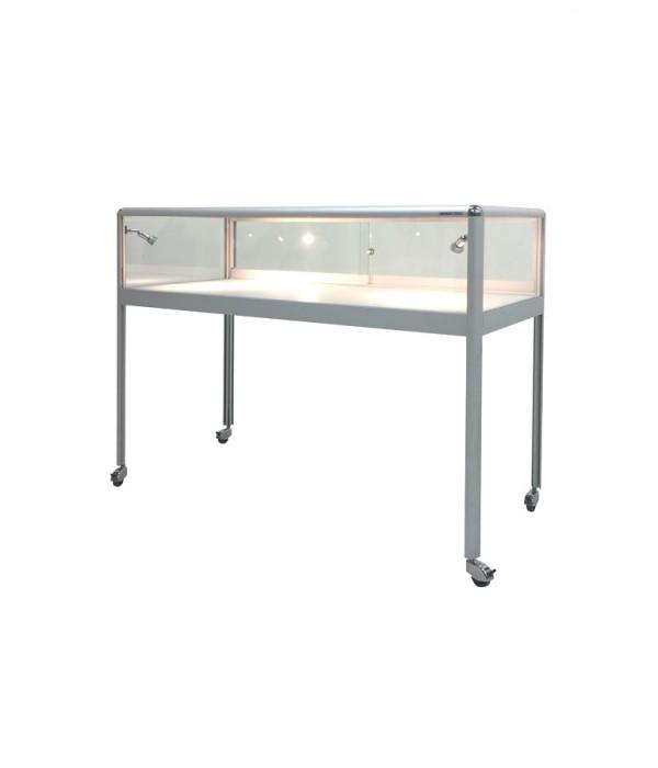 Huur van tafel-vitrine PR-119/T 123x56x97cm