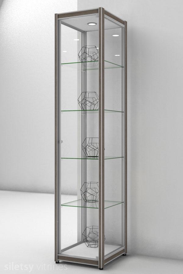 Vitrinekast FX-03 42x49x200cm