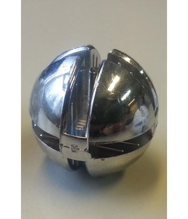 Bolverbinder chroom voor 4mm glas