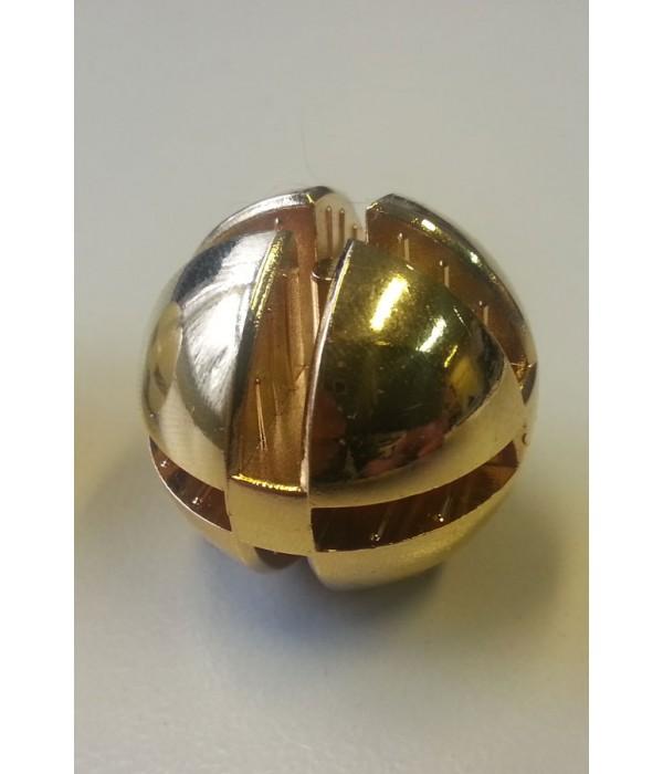 Bolverbinder goud voor 4mm glas