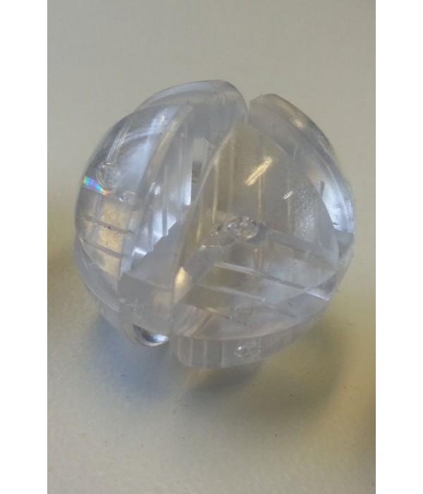 Bolverbinder transparant voor 4mm glas