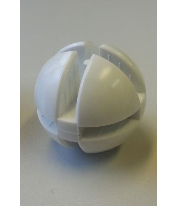 Bolverbinder wit voor 4mm glas