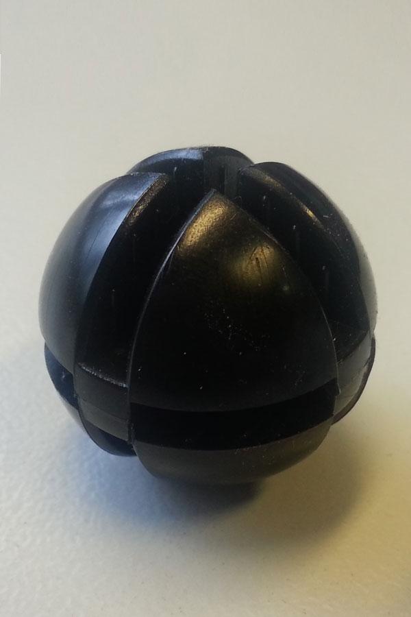 Bolverbinder zwart voor 4mm glas