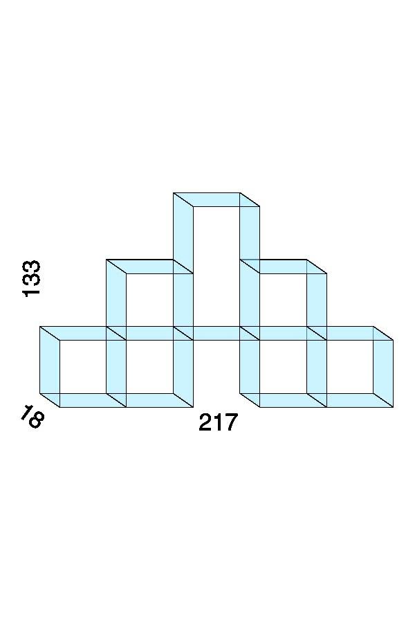 Opstelling met 1 set H