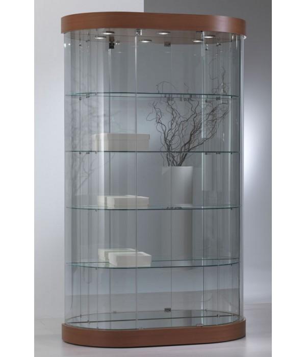 Design ronde vitrinekast 112x38x190cm