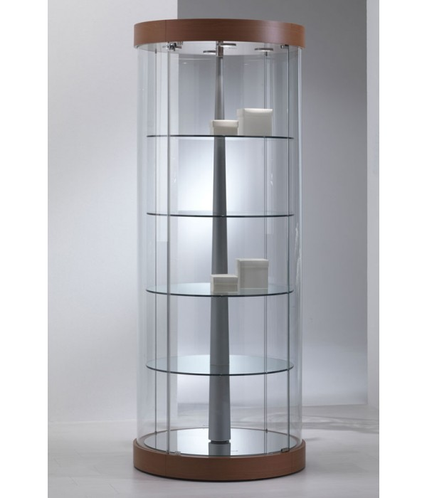 Design ronde draai-vitrine ø71x190cm