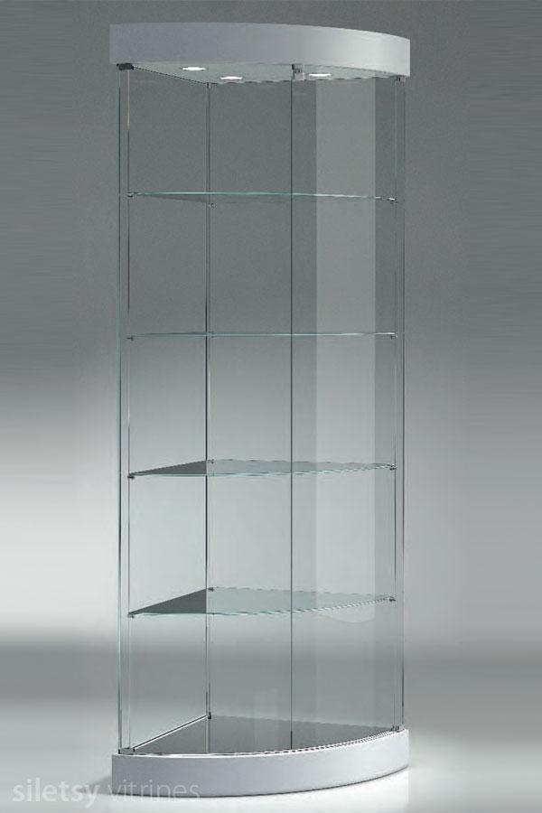 Design ronde hoekvitrine 58x58x190cm