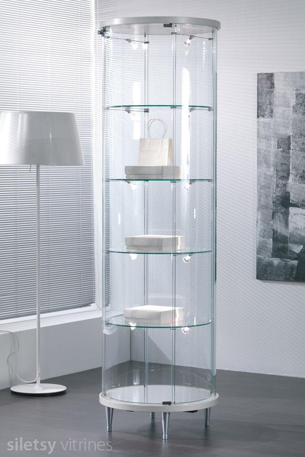 Design ronde vitrinekast ø57x190cm