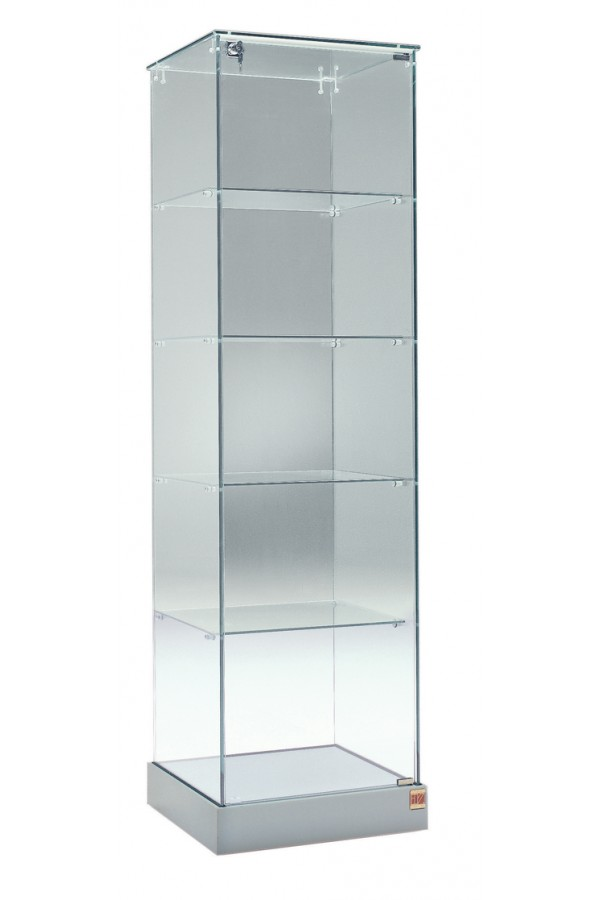 Glasvitrine 53x46x180cm