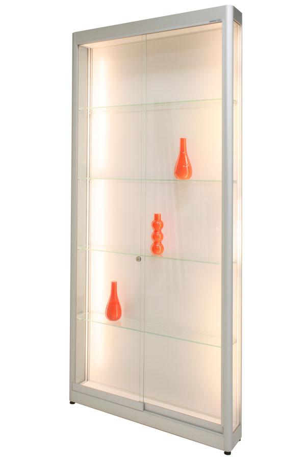 LED-vitrine PR-08/AL 86x17x198cm