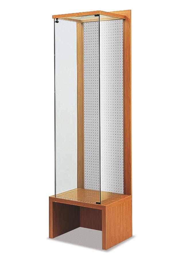 Vitrine met perfo-achterwand 64x46x216cm
