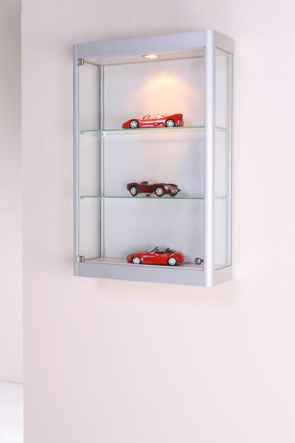 Glazen Wand Vitrinekast.Wandvitrinekast 45x17x94cm