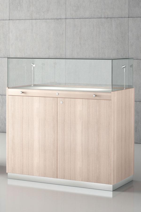 Stolp-vitrine 100x50x126cm