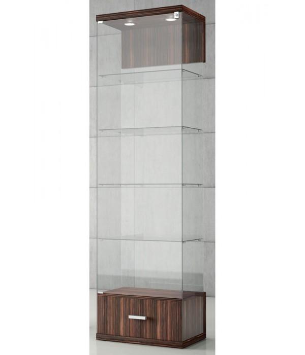 Vitrine met lade-onderkast VE-60-C 60x40x210cm